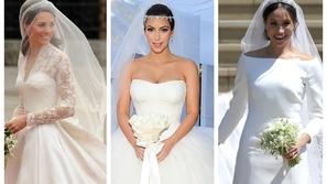 صور: أغلى فساتين زفاف النجمات.. أحدهم مزين بنصف مليون قطعة كريستال 😮