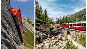 مشهد يقطع الأنفاس.. تعطل قطار جبلي مائل يحمل 300 سائح