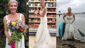 فيديو وصور: ترتدي فستان زفافها يومياً لتقوم بإنجاز المهام المنزلية