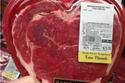 شرائح اللحم على شكل قلب