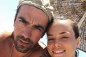 إبراهيم تشيليكول مع زوجته خلال إجازة العيد