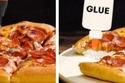 استخدام الصمغ الأبيض في إعلانات البيتزا