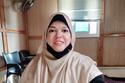 تبلغ نجوان من العمر 40 عاما وهي حاصلة على  بكالوريوس الاقتصاد المنزلي