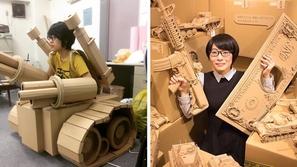 صور: طالبة تبدع في صنع أشياء نستخدمها يومياً من الورق المقوي