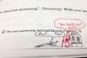 رسم كاريكاتيري لطالب يصف فيه أستاذه الرياضيات
