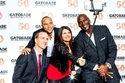 بيتن مانينغ، ديريك جيتر، ميا هام ومايكل جوردان  خلال الاحتفال بالذكرى الخمسين لشركة جاتوريد في أريزونا، الولايات المتحدة الأمريكية