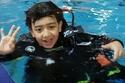 صور أصغر غواص سعودي في العالم وموسوعة غينيس تنتظره!