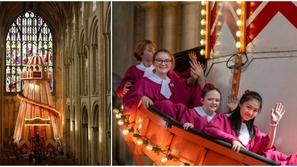 صور: بطول 50 قدما… زحلوقة ترفيهية داخل كاتدرائية عمرها قرون من الزمان!