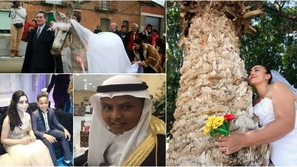 25 صورة أغرب حالات الزواج في العالم بينهم 3 عرب الأخيرة أشعلت السعودية