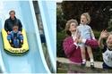 الأميرة ديانا وطفليها وليام وهاري