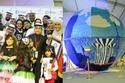 أكبر منحوت زجاجي في العالم في مدينة الكويت يتكون من 147008 غطاء  وتم إنشاؤه من قبل فاطمة يوسف الفضلي وفريق من المتطوعين