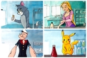 صور رائعة : ماذا ستشتري أشهر شخصيات الكرتون من السوبر ماركت؟