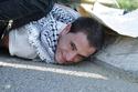 ابتسم أنت فلسطيني كانت المقولة الأكثر تداولاً