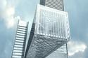 أطول برج أفقي معلق في العالم استُخدم في عملية بنائه مواد مركبة