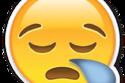 إيموجي الحسرة يعبر عن شعور الشخص بالنعاس، وليس الإصابة بالبرد.