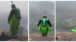 قفزة جريئة لبطل العالم في الطيران بجناحين من أعلى قمم جبال السعودية