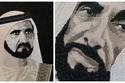صور: فيهم 2 مليون قطعة كريستال.. السر وراء 4 لوحات لقادة الإمارات