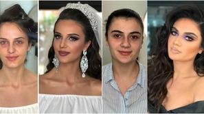 صور: فارق لا يصدق.. العرائس قبل وبعد المكياج ستشعر بالذهول