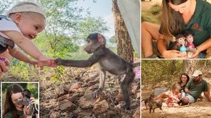 صور: تجربة مثيرة لأسرة تترك حياة المدينة لتعيش مع القرود في الأدغال!