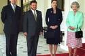 الزيارة الرسمية الأولى بين الملكة رانيا والملكة إليزابيث الثانية