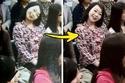 الصورة مزيفة فالحقيقة أن  الفتاة ابتسمت للكاميرا