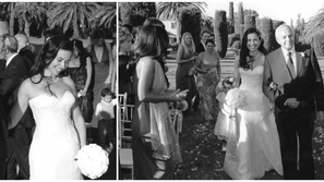 صور: ريا أبي راشد تشعل الإنترنت بإطلالات راقية من حفل زفافها في روما