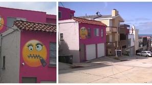 كيداً في جيرانها..ترسم الإيموجي على جدران منزلها للتعبير عن انتصارها😂