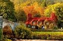 الخريف في Llanrwst ، ويلز
