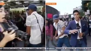 فيديو: مراسل تليفزيوني يتلقى ضربة عنيفة على وجهه في بث مباشر