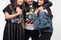 أحمد زاهر مع بناته ليلى وملك زاهر