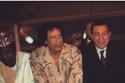 مبارك مع معمر القذافي
