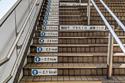 السلالم اليابانية في طوكيو توضح لك عدد السعرات الحرارية التي تحرقها
