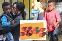 ابن ساندرا بولوك حصل على لوحة فنية بقيمة 14 ألف دولار