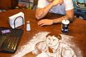 24 صورة لفنان رسم لوحات غير طبيعية باستخدام الملح وقطعة ورق