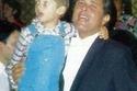 محمود عبد العزيز مع ابنه كريم