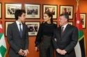 الملكة رانيا مع الملك عبد الله