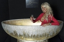 صور أفخم حوض استحمام في العالم والمصنوع من الذهب والمرصع بالكريستال