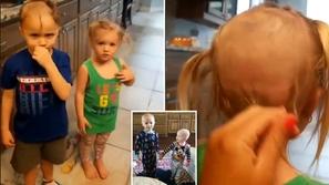 فيديو وصور: حلق شعره وشعر شقيقته😱 .. هكذا كان رد فعل الأم