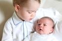 الأمير جورج مع الأميرة شارلوت