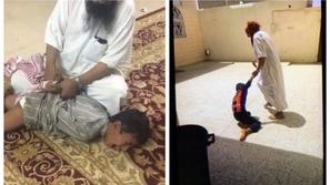 فيديو: له تاريخ من العنف.. معنف ابن طليقته يُشعل الغضب في السعودية
