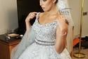 إسراء عبد الفتاح في فستان زفاف بسعر 80 ألف جنيه