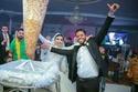 لاعب وسط حرس الحدود السابق ميدو حامد يستبدل تورتة الزفاف بعامود شاورما
