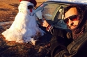 صور طريفة لرجل الثلج ولكن على الطريقة السعودية