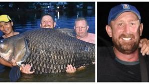 صور بعد قتال ساعة ونصف.. اصطياد أكبر سمكة في العالم بهذا الوزن الخرافي