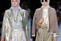 تصميمات أنيسة هاسيبوان في أسبوع الموضة تبهر الجميع بأزيائها الأنيقة المحتشمة وعارضاتها اللاتي التزمن بارتداء الحجاب الإسلامي