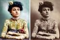 سيدة طبعت الوشم على جسدها يعود تاريخ الصورة إلى 1905