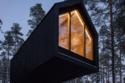 غرف صغيرة أي كابينات أنيقة مطلية باللون الأسود
