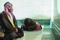 خلال أداء الصلاة والاشراف على راحة المعتمرين