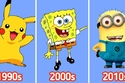 ظهرت شخصيات كارتونية صفراء على سنوات متباعدة