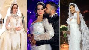 صور أسوأ فساتين زفاف النجمات العرب نجمة خليجية بفستان به 24 ألف ألماسة